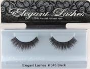 Elegant Lashes #045 Black False Eyelashes
