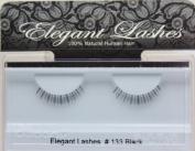 Elegant Lashes #133 Black 100% Human Hair False Under Eyelashes for Lower/Bottom Lashes