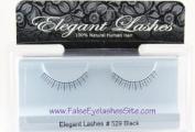 Elegant Lashes #529 Black False Eyelashes