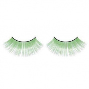 Long Green false eyelashes nr.522 Including FREE adhesive