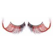 Elegant long false red & brown lashes nr.551 Including free adhesive