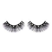 Black & White long false Eyelashes with Rhinestones. nr.491 Including Free adhesive