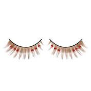 Red Diamante Brown False Eyelashes 13