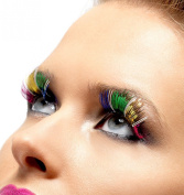 Multi-Coloured Metallic Eyelashes