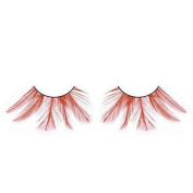 Extra long Red Feather Eyelashes nr. 618 with free adhesive