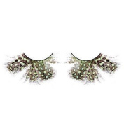 Mini Green Spotted Feather Eyelashes