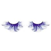 Extra Long Blue Feather Eyelashes