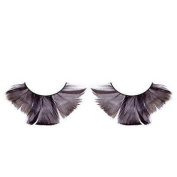 Long Flared Black Feather Eyelashes