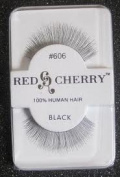 Red Cherry False Eyelashes #606 Black Pack of 3