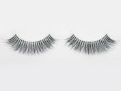 Long Black Reusable False Eyelashes Natural Human Hair with Adhesive