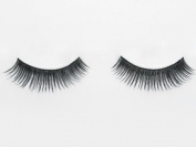 Black False Eyelashes Reusable Natural Human Hair Eye Lashes Includes Adhesive