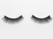 Black False Eyelashes Reusable Natural Human Hair Eye Lashes Includes Adhesive