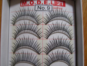 MODEL 21 False fake Lashes No. 9, 10, 11, 12, 13, 14, 15, 16 or 16.1 Eyelashes 10 Pairs