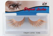 Elegant Lashes W349 Premium Multi-Colour Jumbo Colour False Eyelashes Halloween Dance Rave Costume