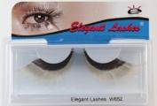 Elegant Lashes W652 Premium Black and White Jumbo Colour False Eyelashes Halloween Dance Rave Costume