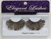 Elegant Lashes F130 Premium Feather False Eyelashes Halloween Dance Rave Costume
