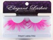 Elegant Lashes F402 Premium Pink Feather False Eyelashes Halloween Dance Rave Costume