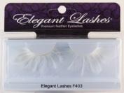 Elegant Lashes F403 Premium White Feather False Eyelashes Halloween Dance Rave Costume