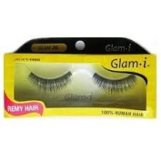Glam i Remy Hair 100% Human Hair Eyelashes (Pack of 6)- Glam 20