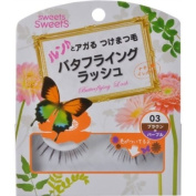 CEZANNE Sweets Sweets | Eyelash | Butterflying Lash BL03 Brown x Purple