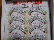 MODEL 21 False fake No. 1, 1A, 2, 3, 4, 5A, 5B, 6A OR 6B Eyelashes 10 Pairs