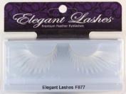 Elegant Lashes F877 Premium White Feather False Eyelashes Halloween Dance Rave Costume