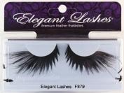 Elegant Lashes F879 Premium Black Feather False Eyelashes Halloween Dance Rave Costume