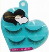 SHO-BI Decorative Eyelash   Eyelash   Heart Natural Cross 2P w/o Glue