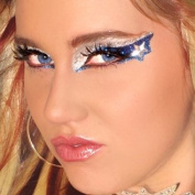 Cowboys Fan Eye Make Up Exotic Eyes DIY Professional Eye Art Blue and Silver