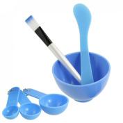Sourcingmap DIY Facial Mask Mixing Stick Brush Gauge Bowl Kit, Blue 8.5 cm - 4 in 1
