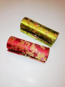 2pcs Set Gorgeous Satin Silky Fabric Lipstick Case,Lipstick Holder w/Mirror Random Assorted Gorgeous Design, 8.9cm L x 3.2cm W Super Value. Perfect for Mother's Day Gifts or Birthday Gifts. 2012 New Design,High Quality w/100% Satisfaction Guara ..