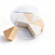 Two-colour triangle sponge / Puff / Fan eight Qiehai the cotton / Makeup Tools