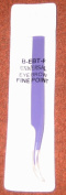 Professional Stainless Steel Slant Purple Eyebrow 10.2cm Tweezer Fine Point