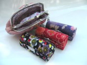 Lipstick Case And Gorgeous Hand-Held Fashion Coin Purse - 3pcs Set Random Assorted Colours Satin Silky Fabric Lipstick Case,Lipstick Holder w/Mirror. Random Assorted Gorgeous Design ,8.9cm L x 3.2cm W Standard Size Super Value,Good for Birthday Gifts-- ..