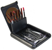 Nail Care Personal Manicure & Pedicure Set, Travel & Grooming Kit #BM512 Silver