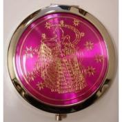 Purse Handbag Double Compact Cosmetic Mirror - Girl - Hot Pink