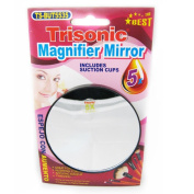 Magnifier Mirror Suction Cup 5x Trisonic Makeup Shaving