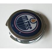 Edmonton Oilers Ladies Compact Mirror w/ Floral Design