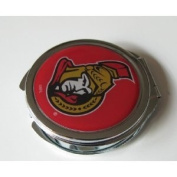 Ottawa Senators Ladies Compact Mirror w/ Floral Design