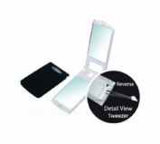 Rucci LED Light Compact Mirror With Tweezer, 1X/3X