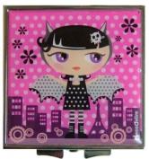 Kawaii Cute Vampire Girl Mini Square Compact Mirror