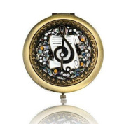 Music Design Brass Mirror Compact Model No. M-120