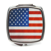 American Flag Compact Mirror