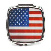 American Flag Compact Mirror
