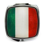 Italian Flag Compact Mirror
