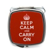 Keep Calm and Carry On Compact Mirror