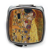 The Kiss by Gustav Klimt Compact Mirror