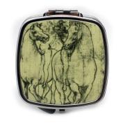 Leonardo DaVinci's Horses Compact Mirror
