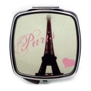 Love Eiffel Tower Compact Mirror
