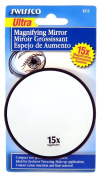 Swissco Suction Cup Mirror 15x Magnification, 8.9cm